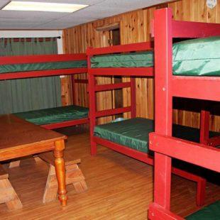 bunk beds in cabin Indian Head Canoeing Rafting Kayaking Tubing Delaware River