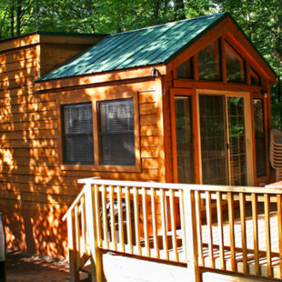 cabin and deck on sunny day Indian Head Canoeing Rafting Kayaking Tubing Delaware River