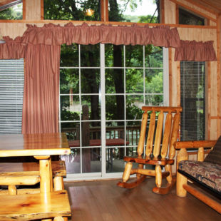 inside a cabin seating and living room Indian Head Canoeing Rafting Kayaking Tubing Delaware River
