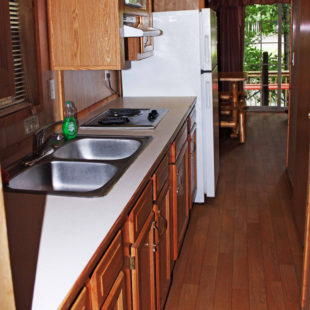 galley kitchen in bunk house Indian Head Canoeing Rafting Kayaking Tubing Delaware River