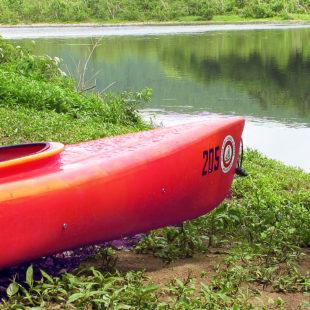 kayak off shore in Matamoras Indian Head Canoeing Rafting Kayaking Tubing Delaware River
